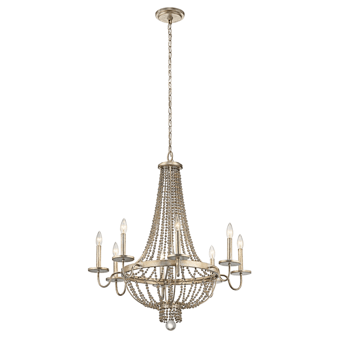 Birkdale Chandelier 8 Light - Sterling Gold