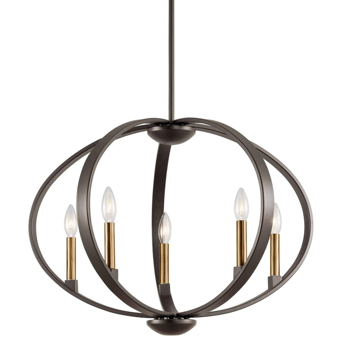 Elata Chandelier/Pendant 5 Light - Olde Bronze