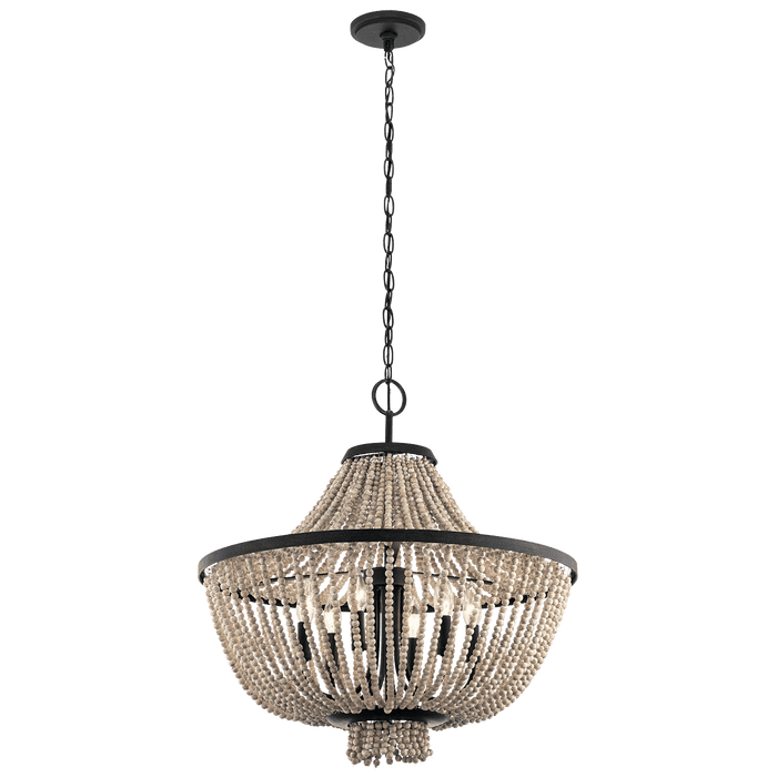 Brisbane Chandelier 6 Light - Distressed Black