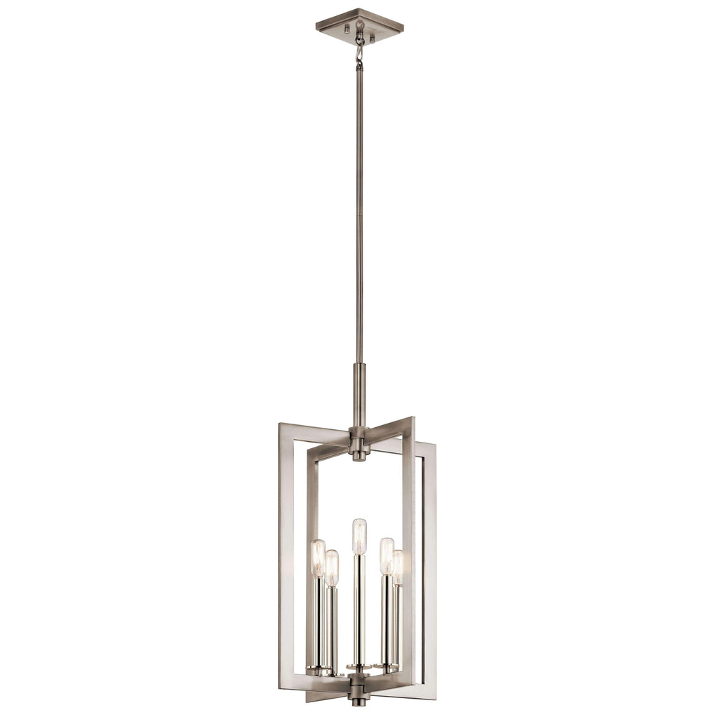 Cullen Large Foyer Pendant 5 Light - Classic Pewter