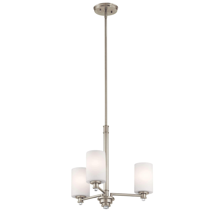 Joelson Mini Chandelier 3 Light - Brushed Nickel