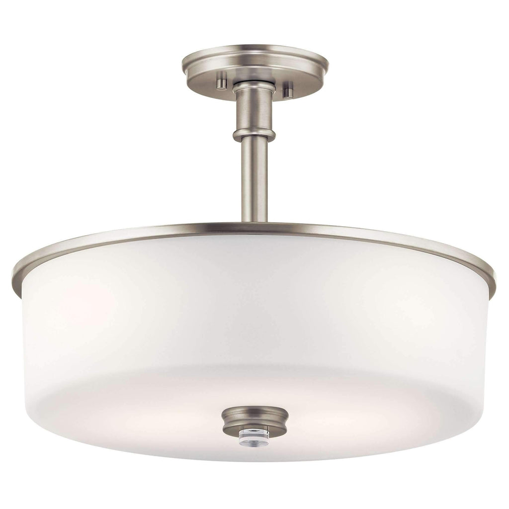 Joelson Pendant/Semi Flush 3 Light - Brushed Nickel