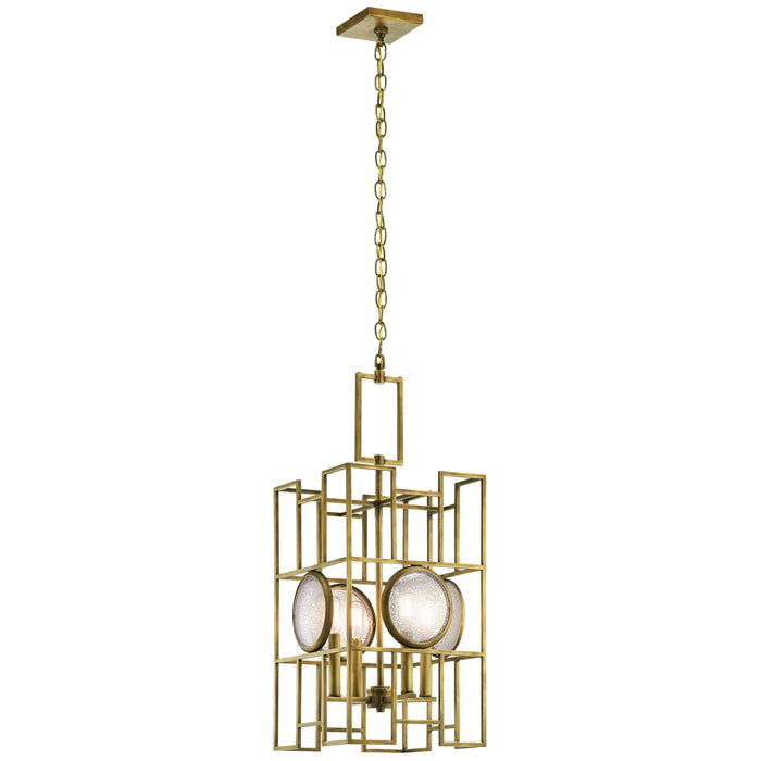 Vance Pendant 4 Light - Natural Brass