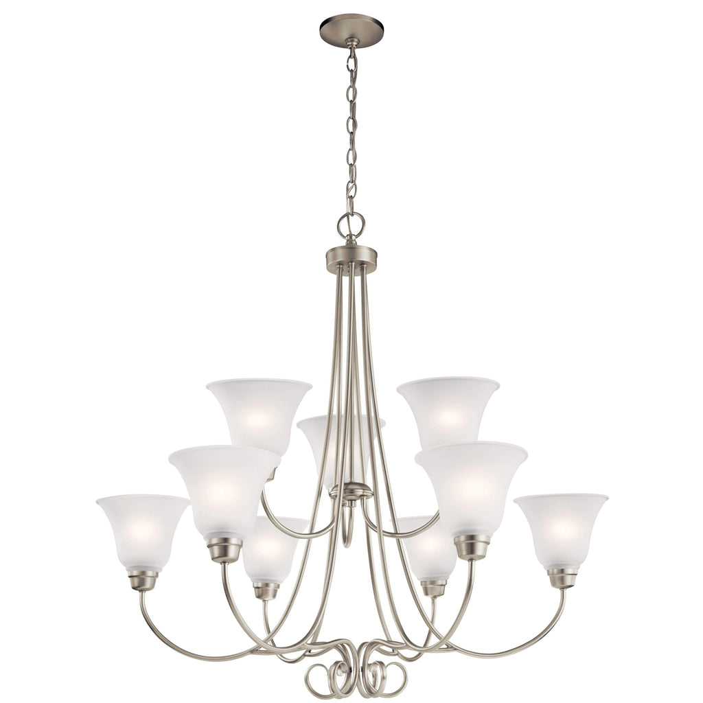 Bixler Chandelier 9 Light - Brushed Nickel