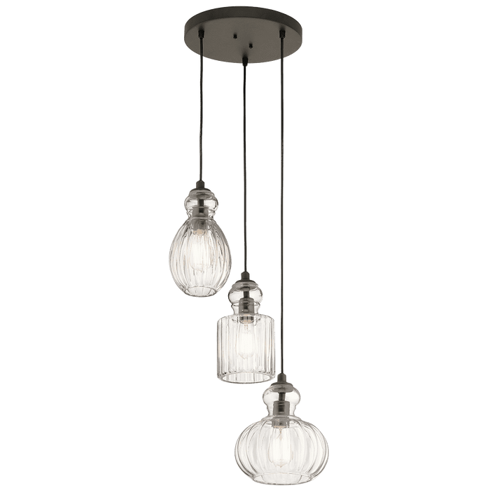 Riviera Pendant 3 Light - Olde Bronze