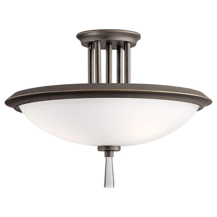 Dreyfus Semi Flush 3 Light - Olde Bronze