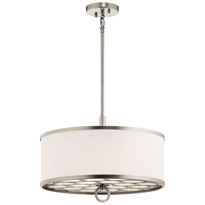 Melrose Pendant/Semi Flush 3 Light - Brushed Nickel