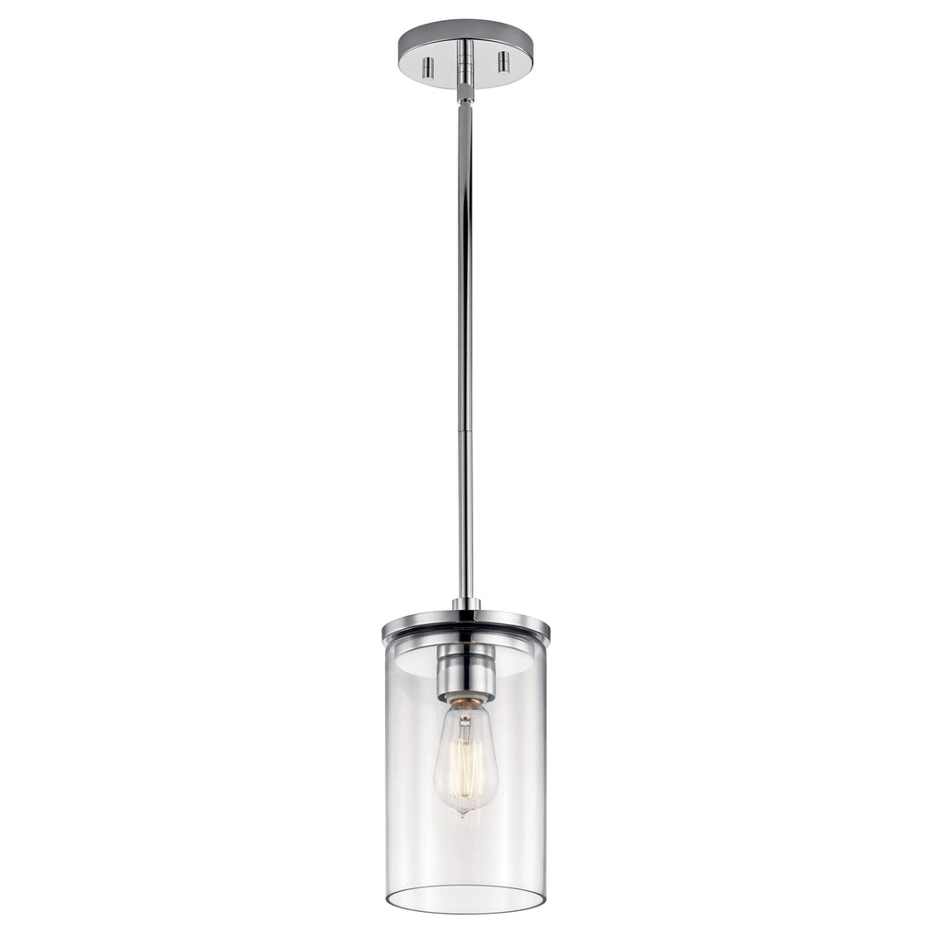 Crosby Mini Pendant 1 Light - Chrome