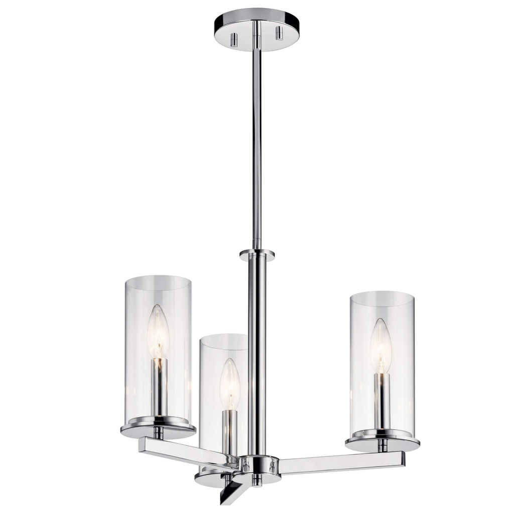 Crosby Chandelier/Semi Flush 3 Light - Chrome