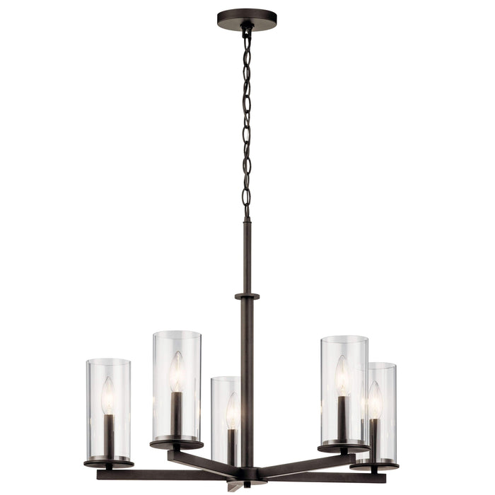 Crosby Chandelier 5 Light - Olde Bronze