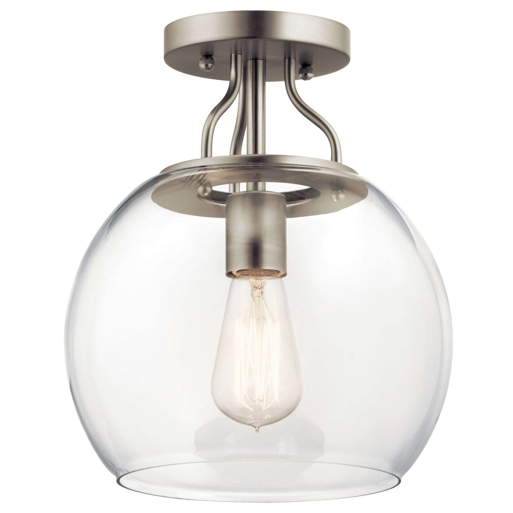 Harmony Semi Flush 1 Light - Brushed Nickel