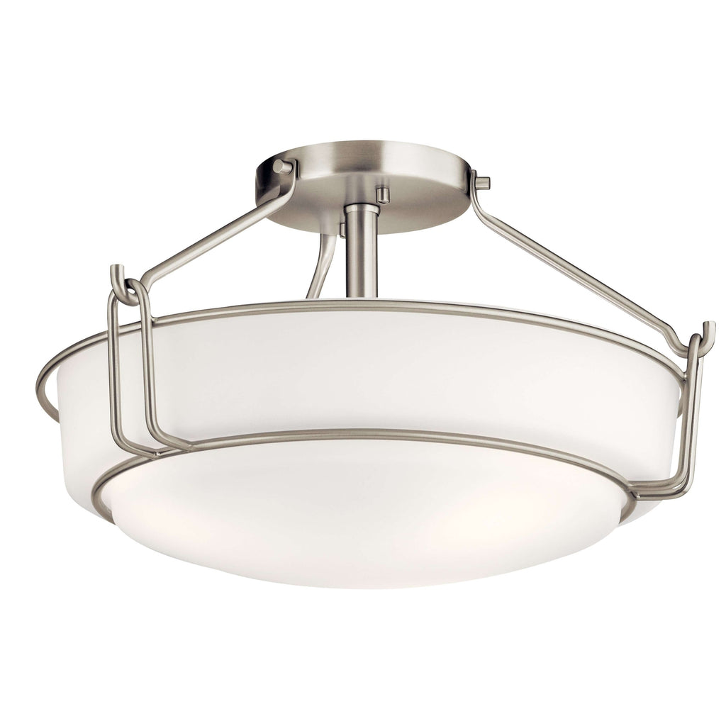 Alkire Semi Flush 3 Light - Brushed Nickel