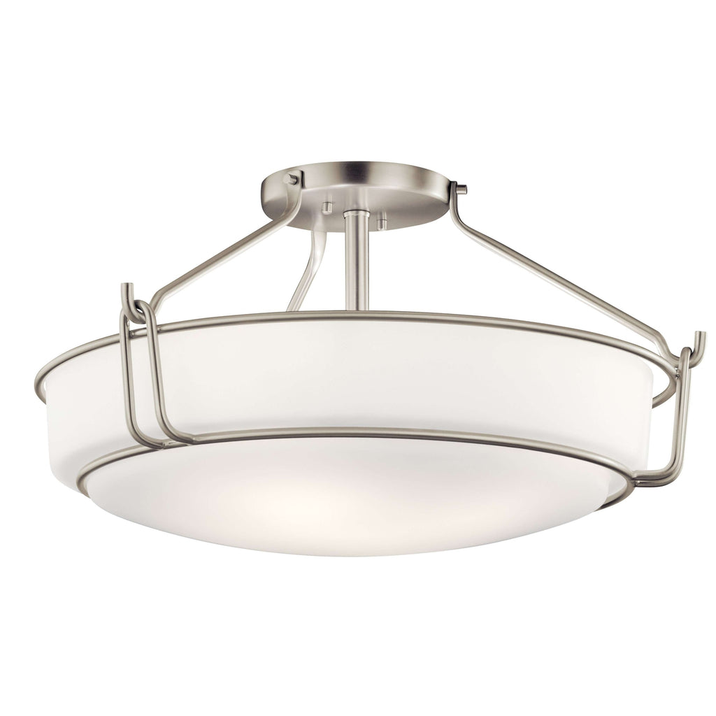 Alkire Semi Flush 4 Light - Brushed Nickel