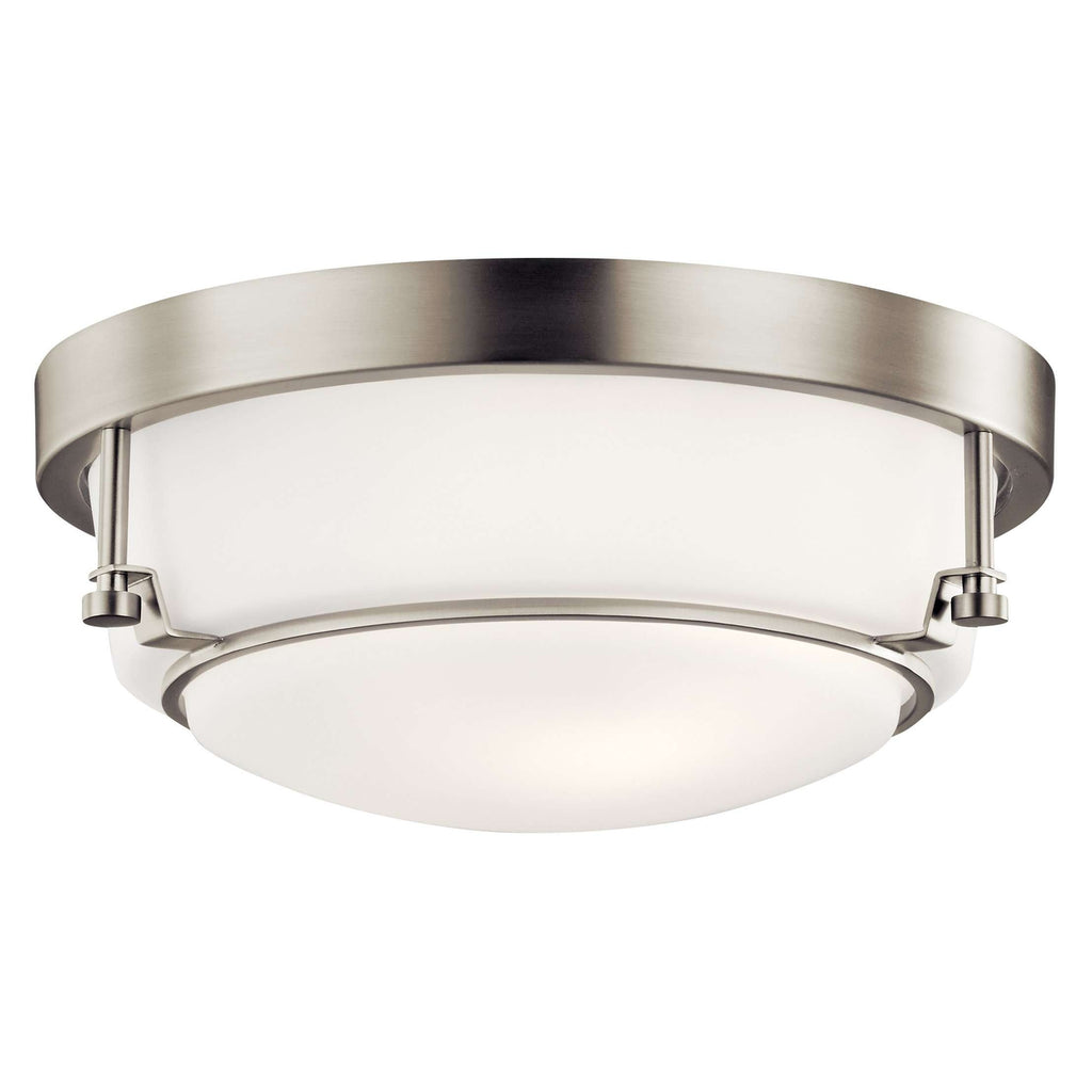 Belmont Flush Mount 2 Light - Brushed Nickel