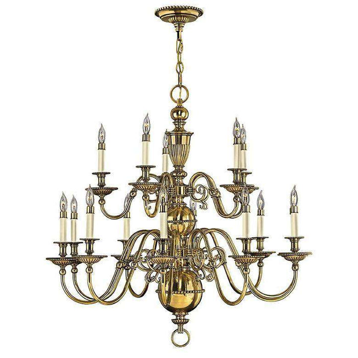 Cambridge Chandelier Burnished Brass
