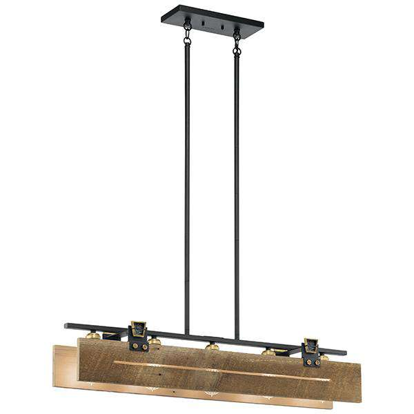 Ridgewood 5 Light Linear Chandelier - Textured Black