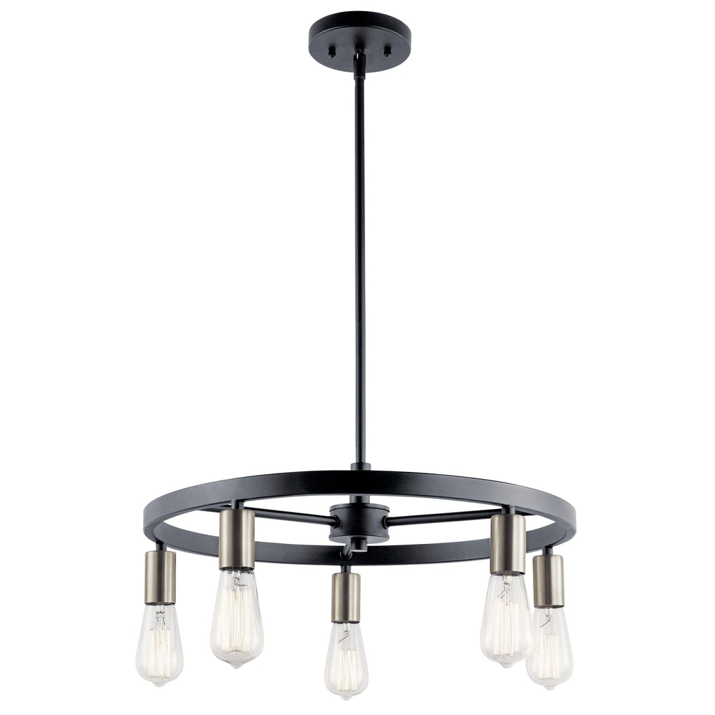 Brooklyn Chandelier 5 Light - Matte Black