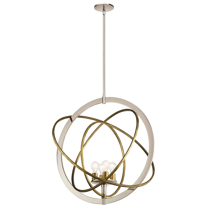 Ibis 4 Light Pendant - Polished Nickel