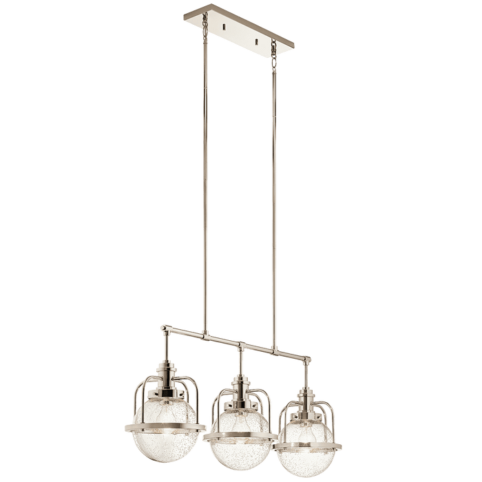 Triocent Linear Chandelier 3 Light - Polished Nickel
