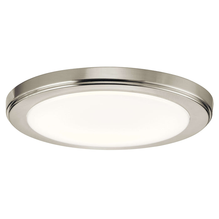 Zeo 3000K Edgelit LED 10 Inch round Flushmount - Brushed Nickel
