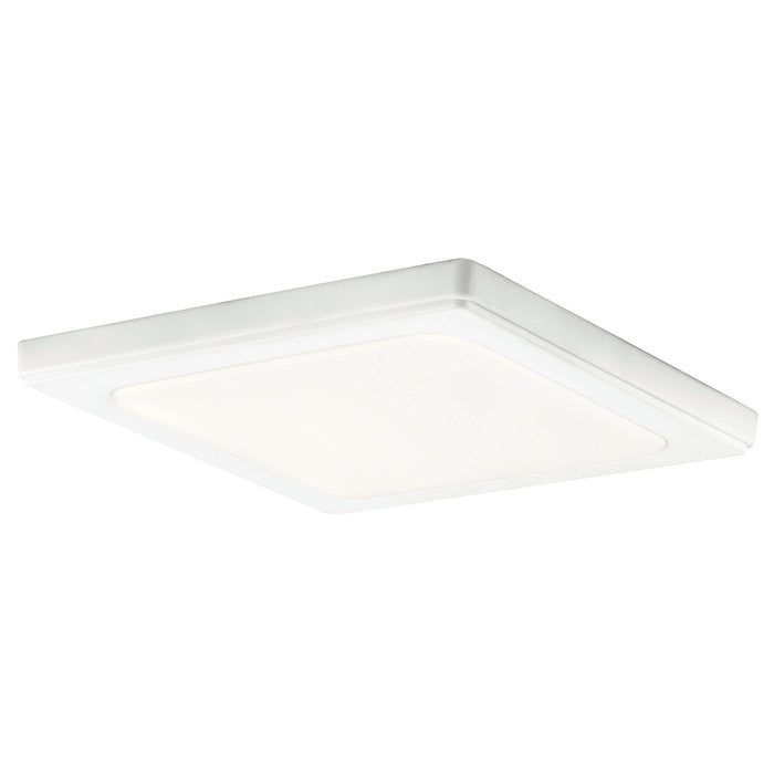 Zeo 3000K Edgelit LED 10 Inch square Flushmount - White