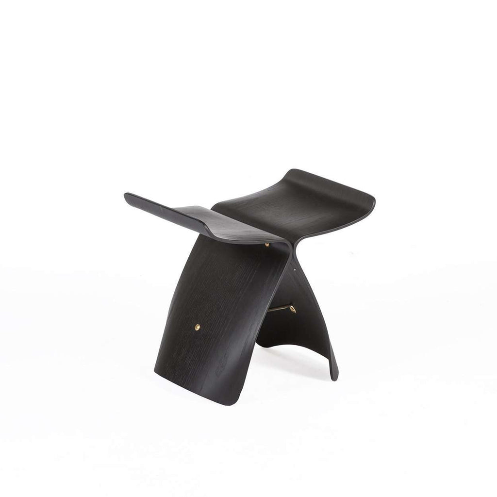 Mid-Century Modern Reproduction Butterfly Stool - Black Inspired by Sori Yanagi