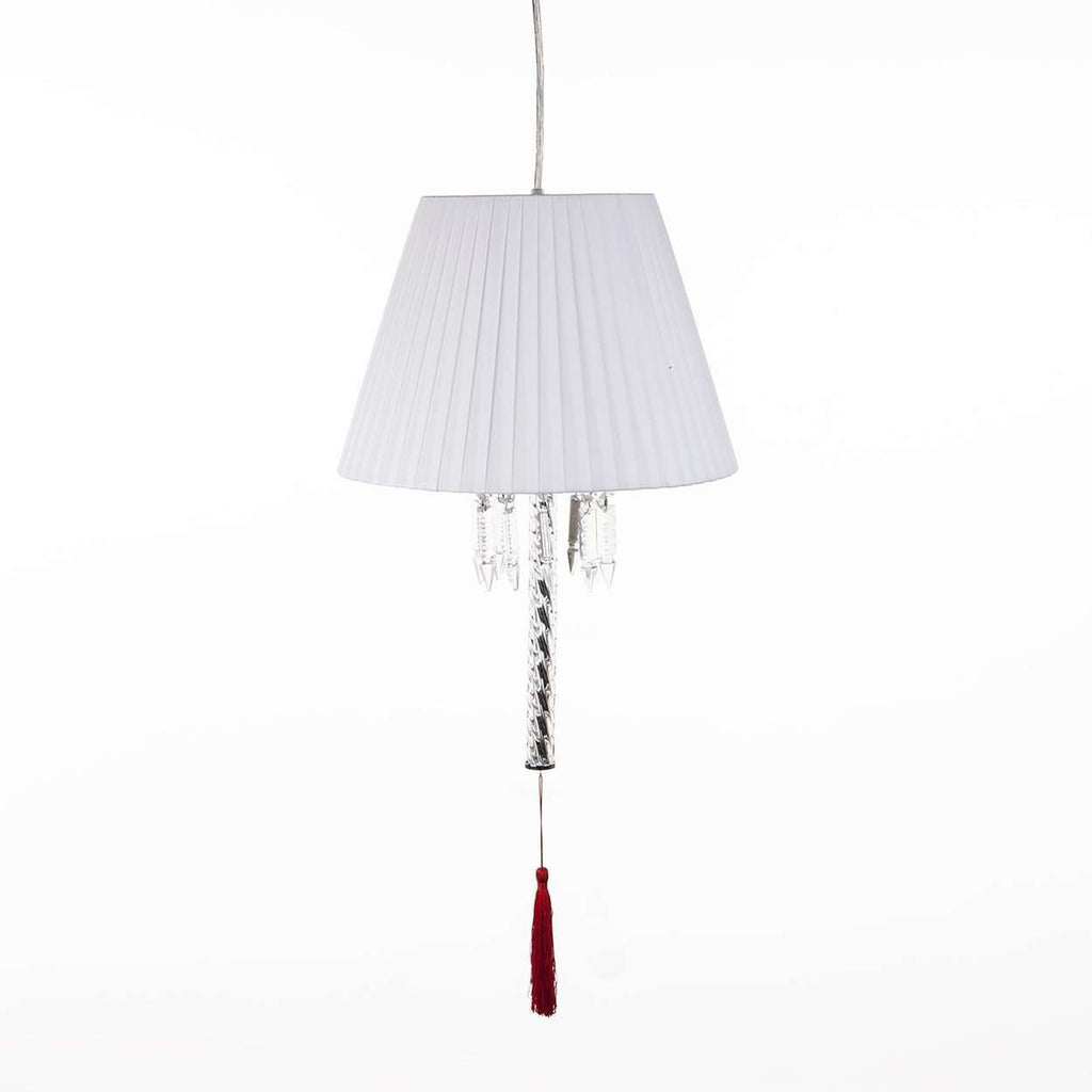 Modern Torch Pendant Lamp with White Shade