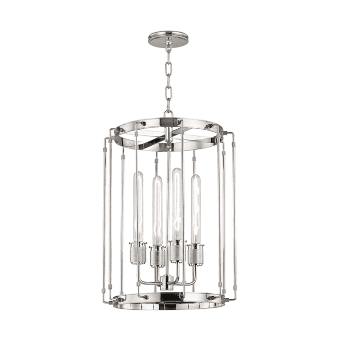 Hyde Park 4 Light Pendant Polished Nickel