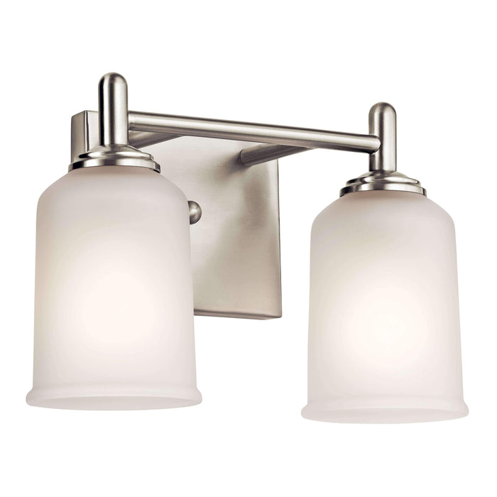 Shailene Bath 2 Light - Brushed Nickel