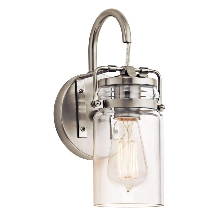 Brinley Wall Sconce 1 Light - Brushed Nickel