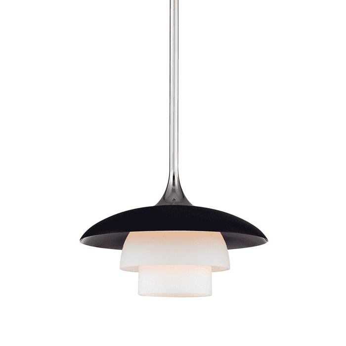 Barron 1 Light Pendant Polished Nickel