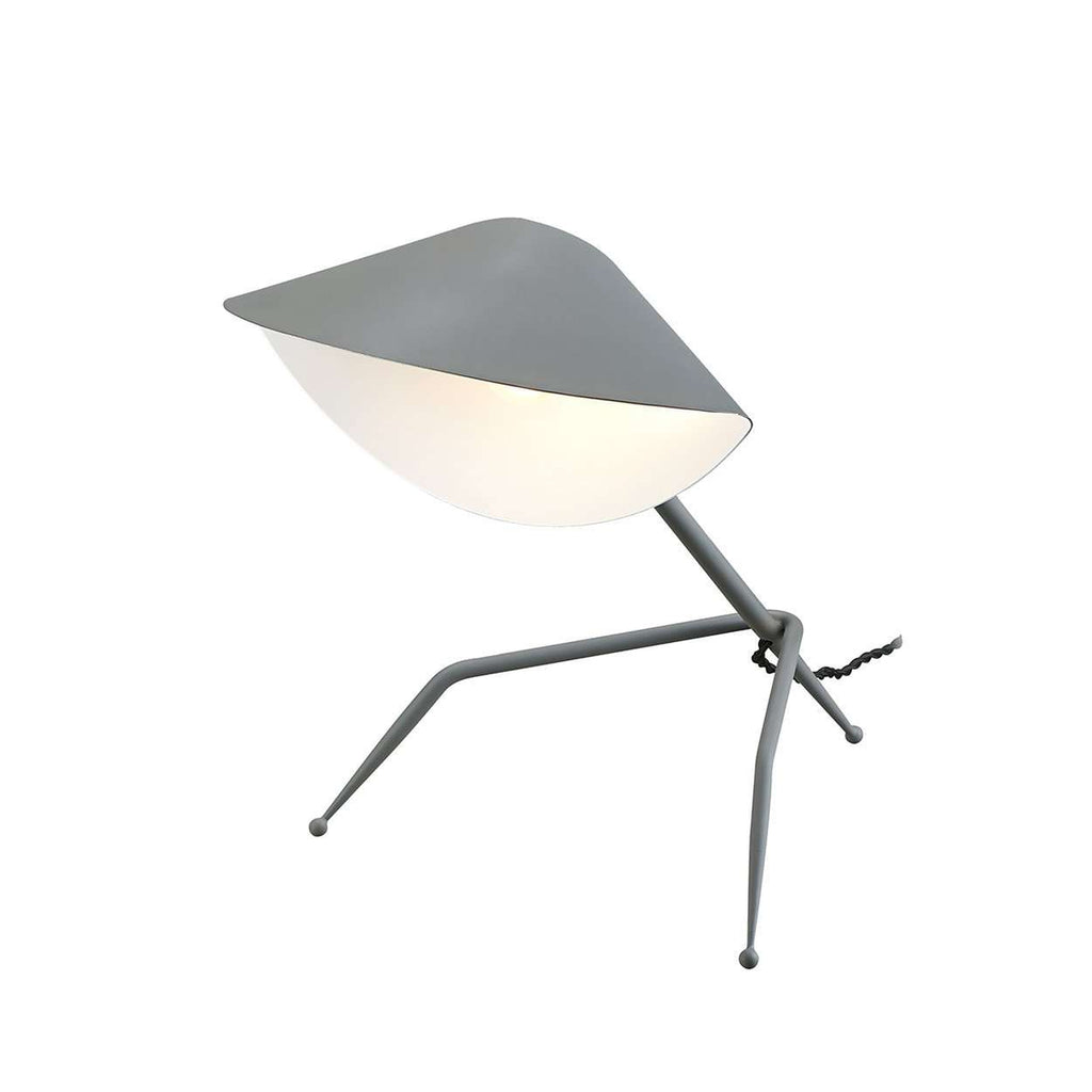 Mid-Century Modern Reproduction Tripod Desk Lamp - Grey Inspired by Serge Mouille