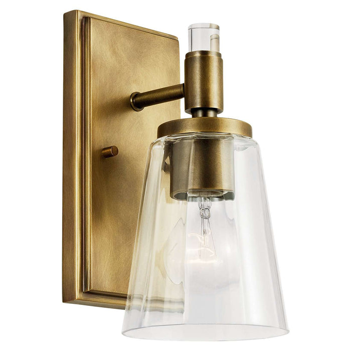 Audrea Wall Sconce 1 Light - Natural Brass