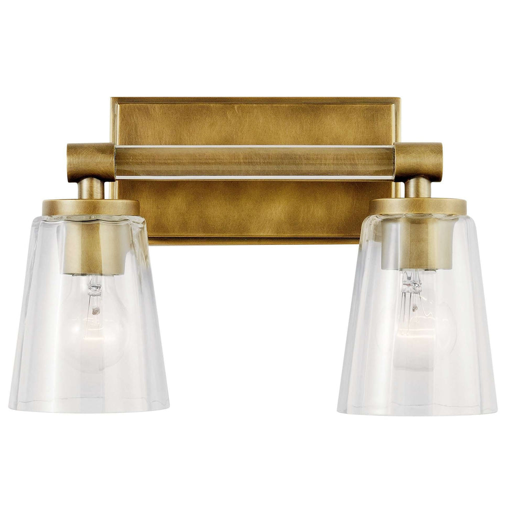 Audrea Bath 2 Light - Natural Brass