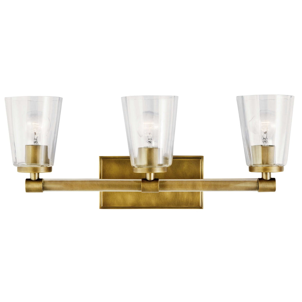 Audrea Bath 3 Light - Natural Brass
