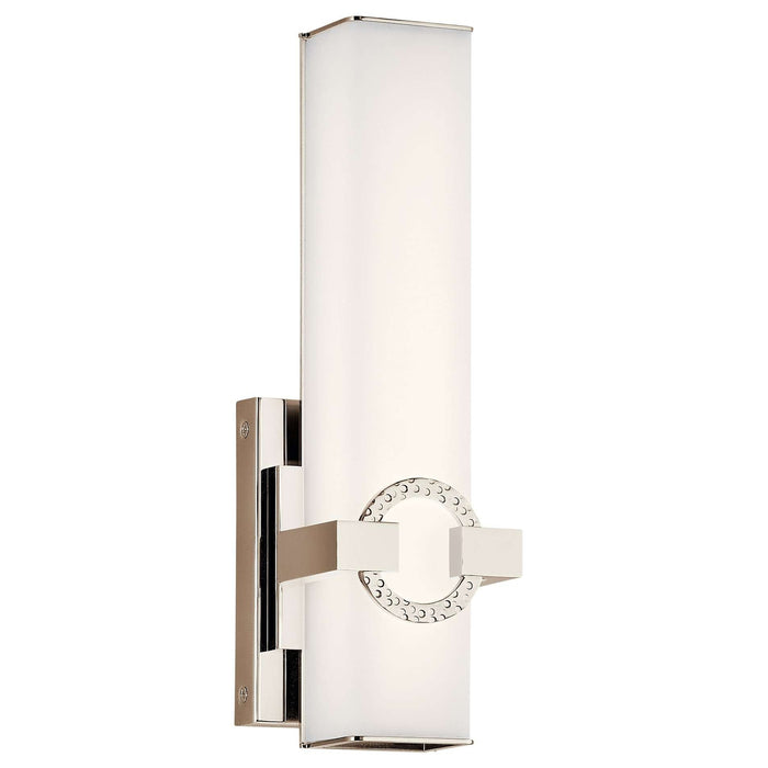 Bordeaux Wall Sconce 13in LED - Polished Nickel
