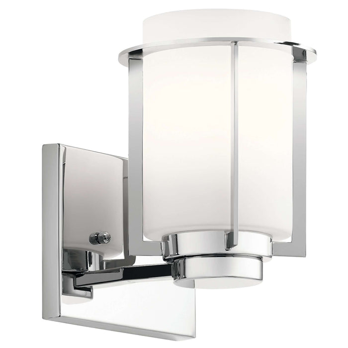 Chagrin 1 Light Wall Sconce - Chrome