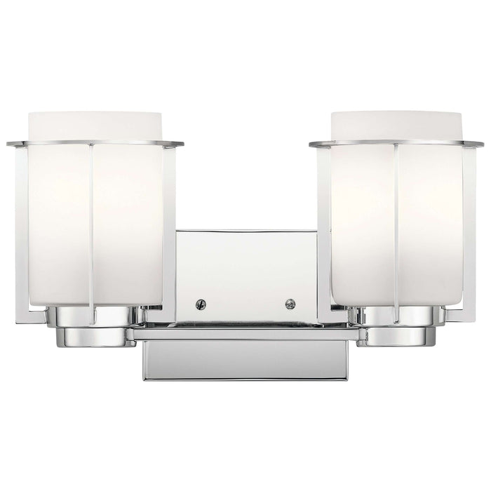 Chagrin 2 Light Bath Light - Chrome