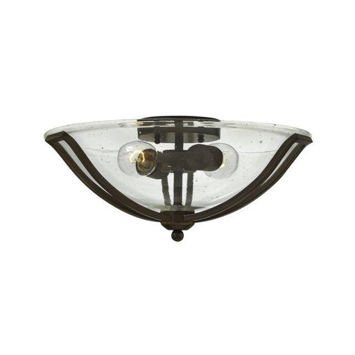 Bath Bolla Flush Mount Olde Bronze With Clear Seedy