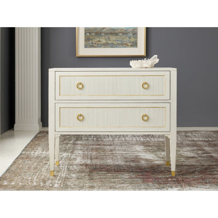 Swedish Reeeded Two Drawer Chest