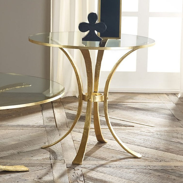 Retro Gilded Side Table