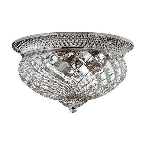 Bath Plantation Flush Mount Polished Antique Nickel