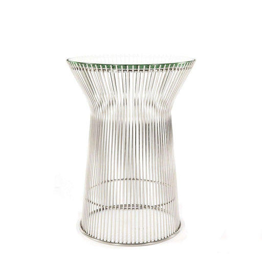 Mid-Century Modern Reproduction Glass Side Table Inspired by Warren Platner