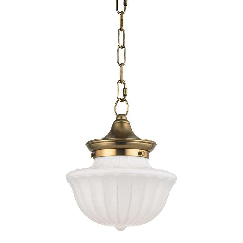 Dutchess 1 Light Small Pendant Aged Brass