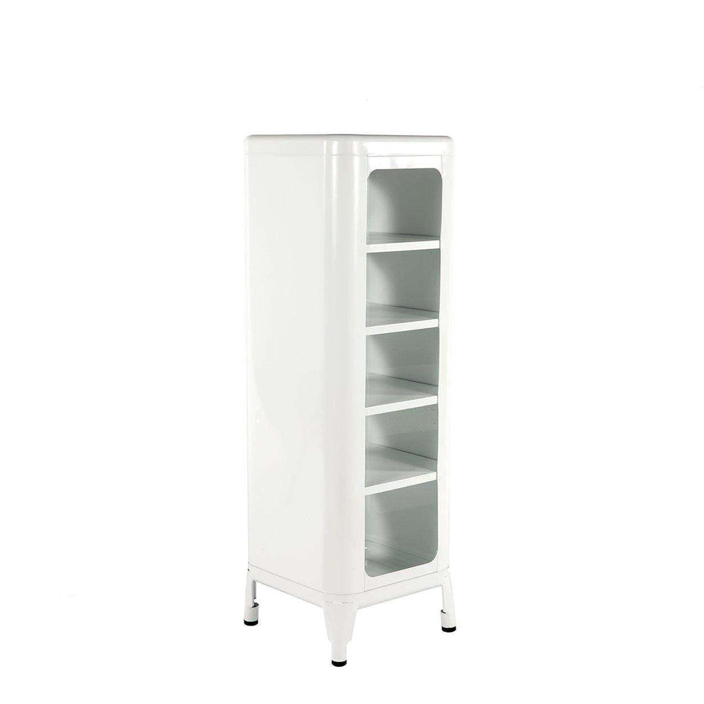Mid-Century Modern Reproduction Steel Tolix Replica Shelving Unit - White Inspired by Frederic Gaunet