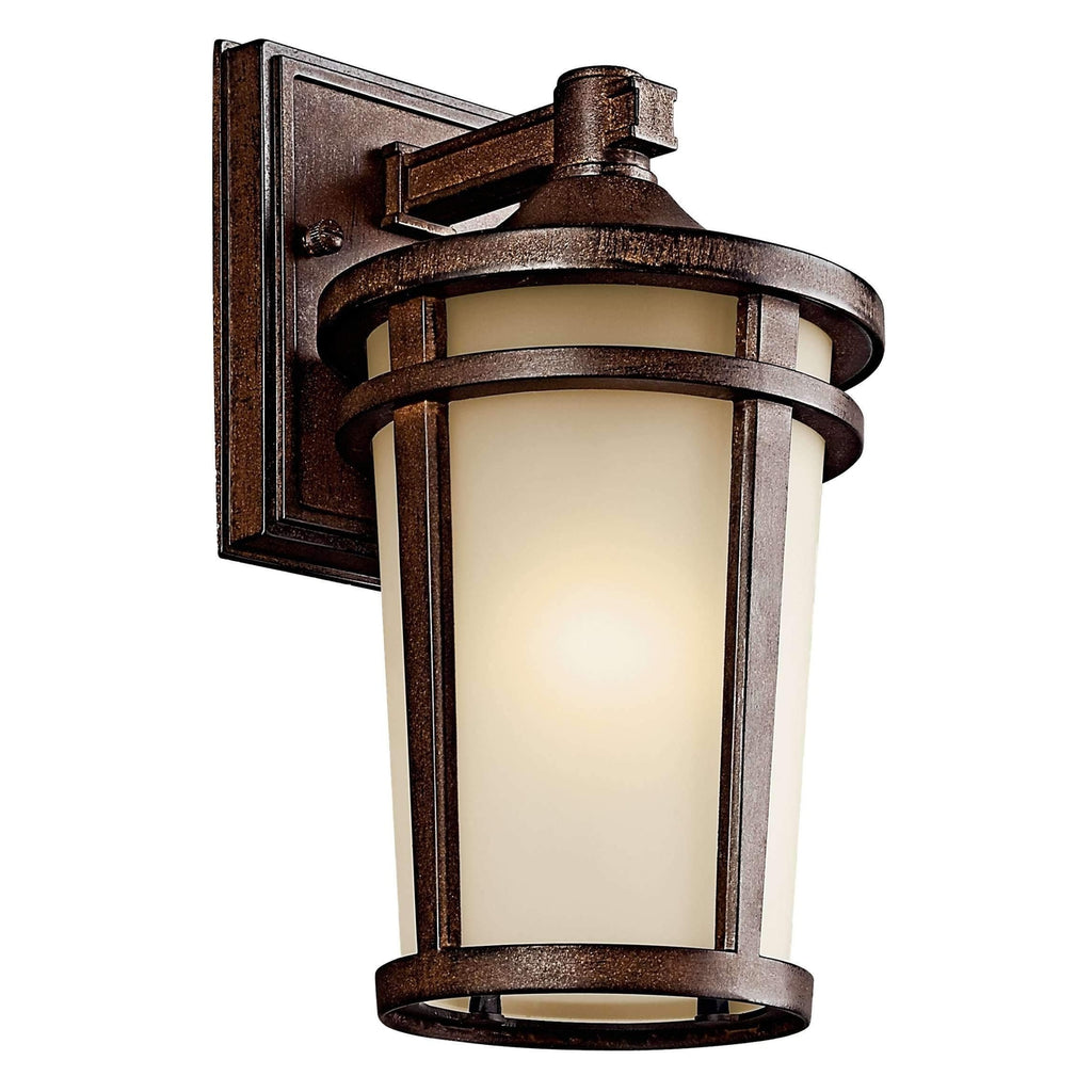 Atwood Outdoor Wall 1 Light - Brown Stone