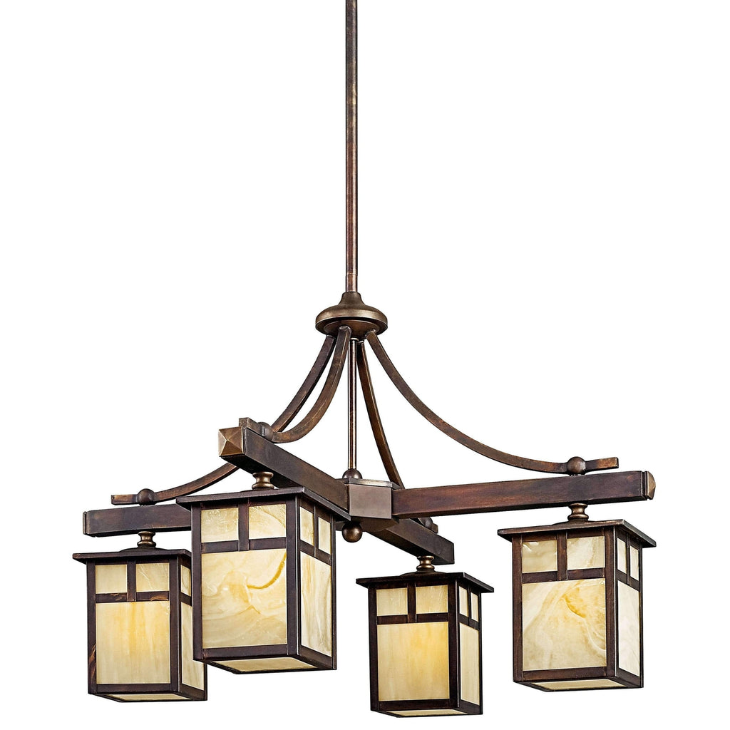 Alameda Indoor/Outdoor Chandelier 4 Light - Canyon View
