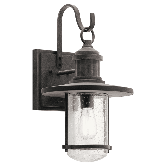 Riverwood Outdoor Wall 1 Light - Weathered Zinc