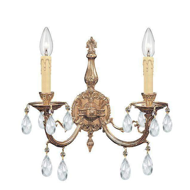 Etta 2 Light Crystal Sconce