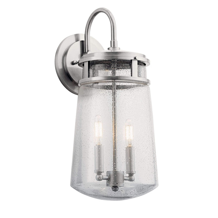Lyndon Outdoor Wall 2 Light - Brushed Aluminum